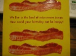 Cute greeting card. It's bacon!
